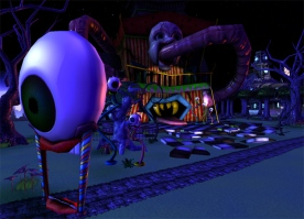 First Iteration World Building | Funhouse Angle View | Gamebryo, 2010